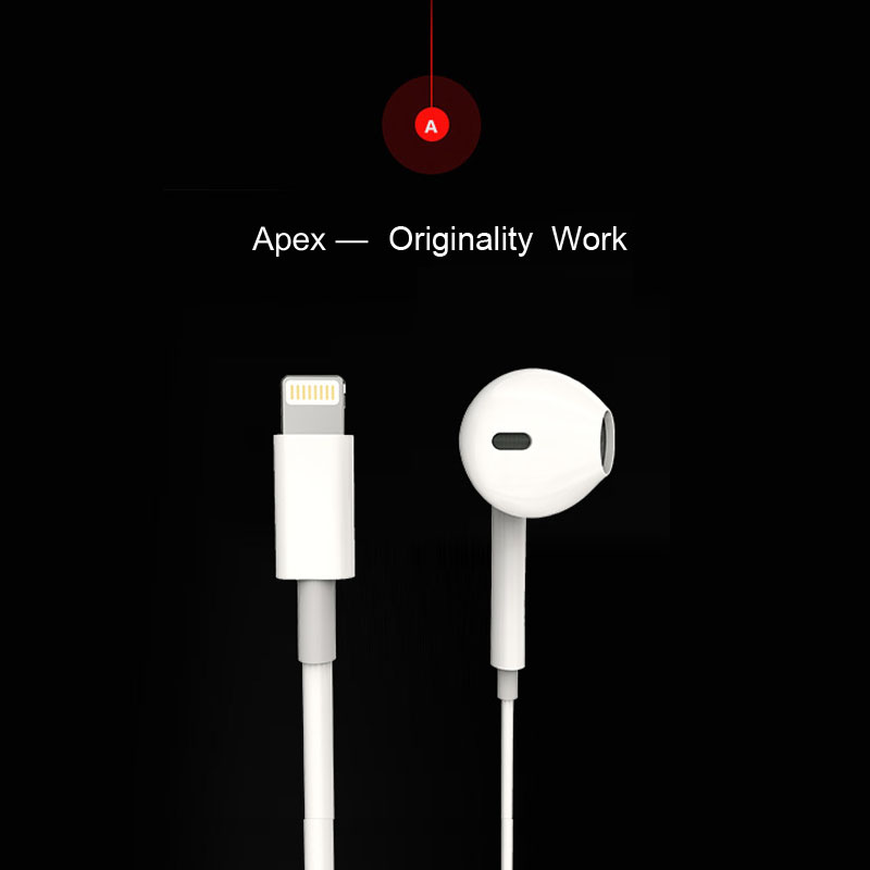 Lightnin interface digital lossless earphone for iphone 7 plus HiFi Chip Inbedded Continual Digital Lossless A