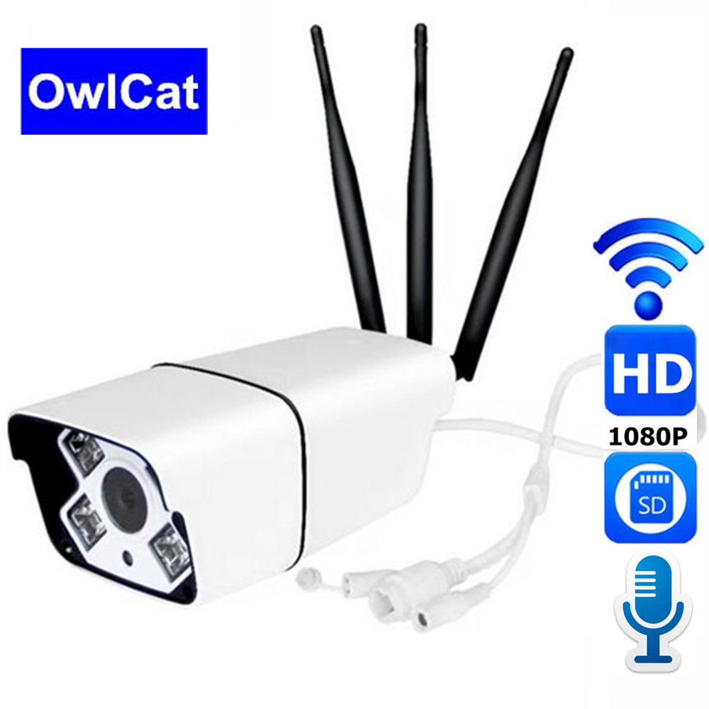 OwlCat 1080P Wifi IP Camera 2 0MP HD Outdoor Weatherproof IP66 Two Way Audio Talk Audio