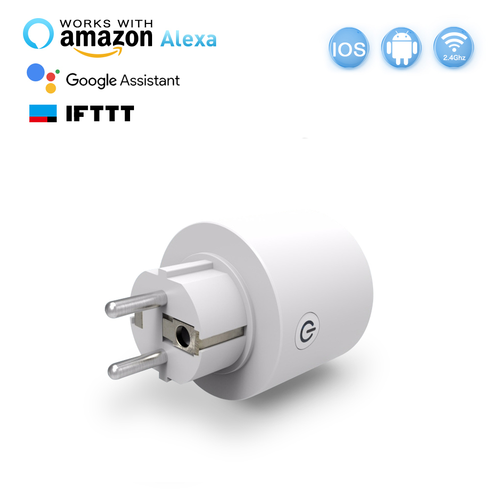 Hyleton Wi-Fi Smart Plug Mini Outlet EU socket remote control Timing Function For Smart Phone Voice Control for Home Appliances