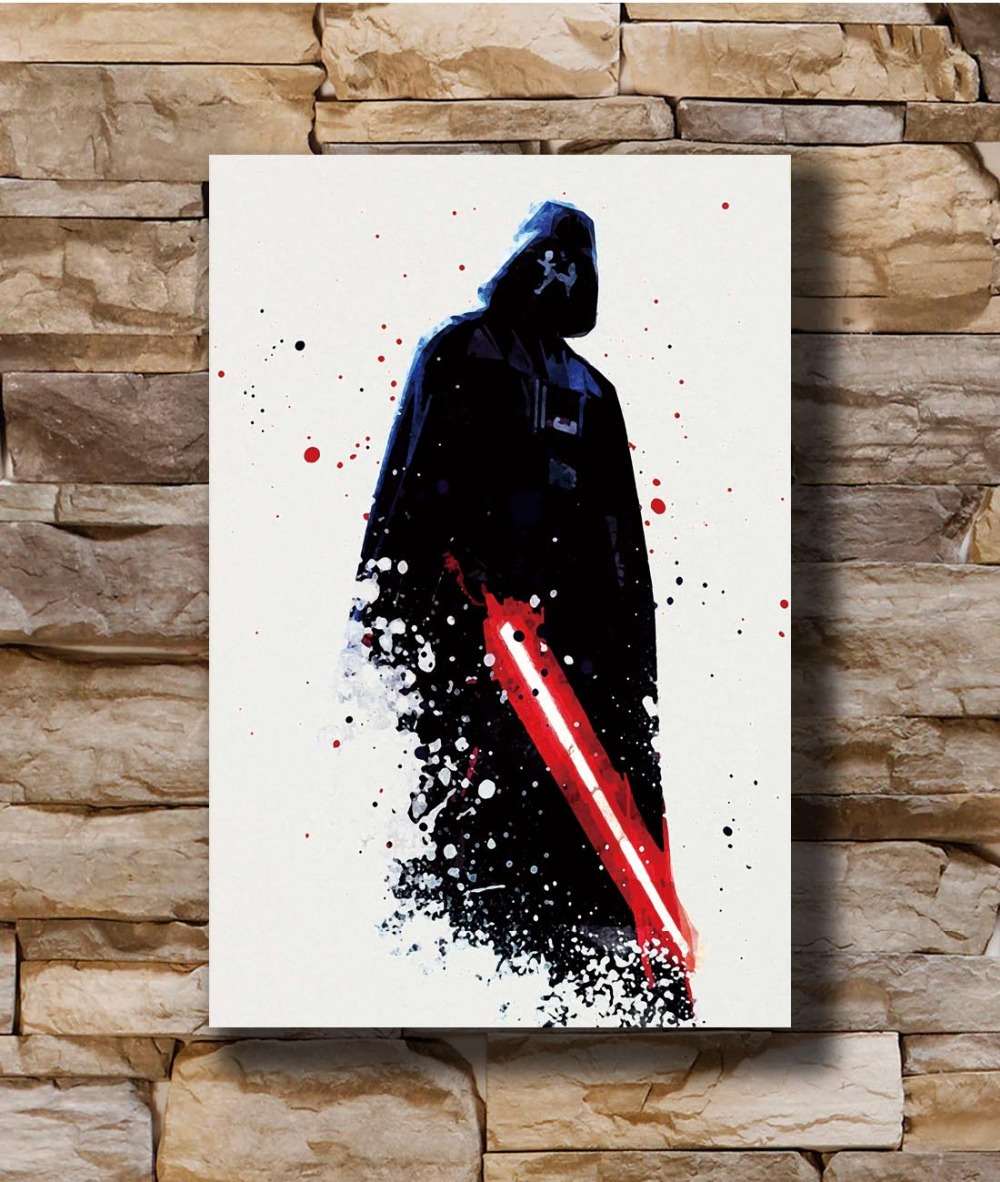"""Star Wars Darth Vader HD Canvas Print 24/""""x36/"""" Home Decor Painting Wall Picture"""