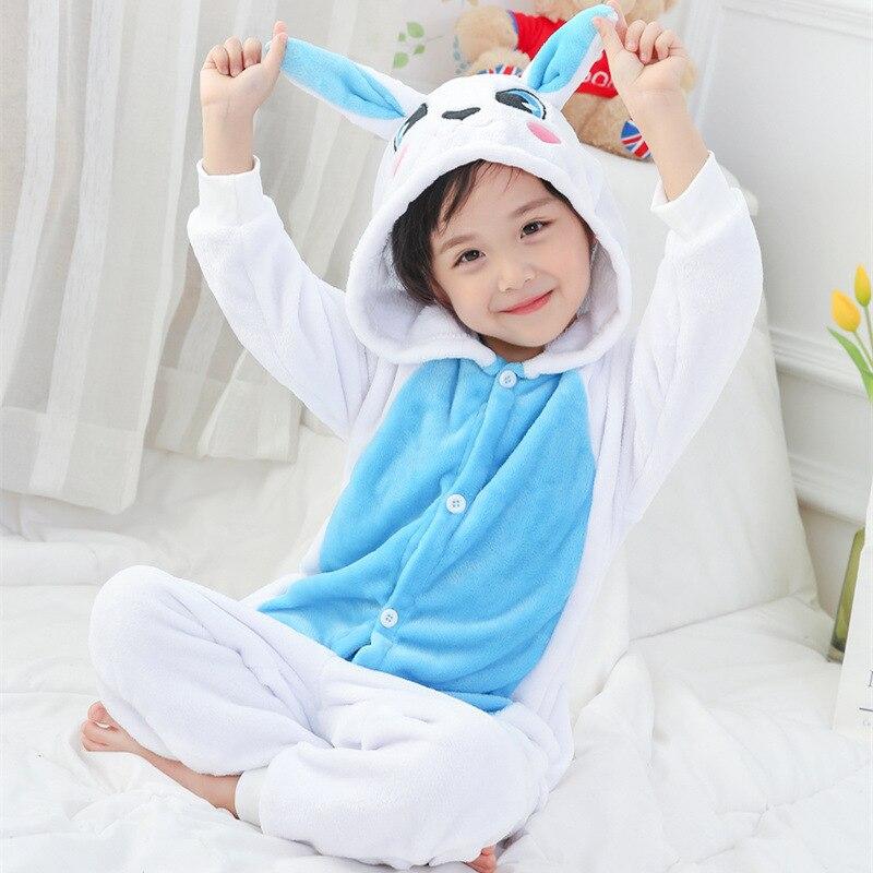 Herrlich Kinder Tier Pyjama Mädchen Jungen Onesie Pyjamas Blau Rosa Kaninchen Kigurumi Pyjama Schwarz Bär Kostüm Mit Kapuze Pijama Flanell Nachtwäsche Um Jeden Preis