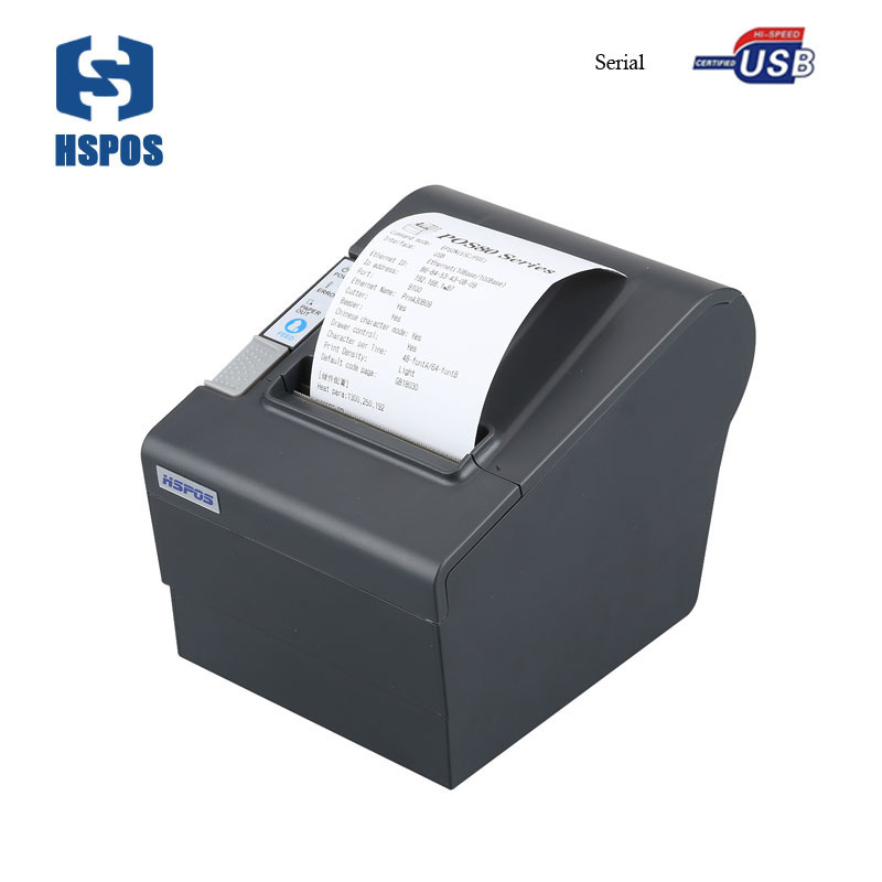 good price 80mm Thermal Receipt Printer with USB+SERIAL port and cutter Support Logo download and print KL80US цена