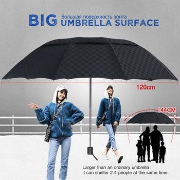 Paraguas plegable de doble capa 3, Paraguas grande de 10K para hombre,...