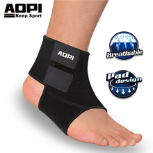 AOPI Ankle Braces Support Protection Elastic Ankle Brace Black Ankle Guard Adjustable Sport Ankle Band Anti Sprain Foot Bandages