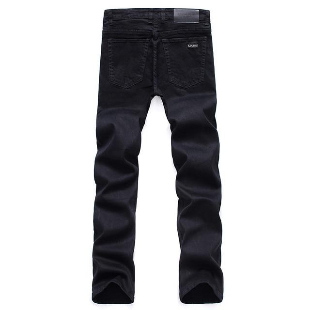 Men's Classic Black Jeans Elastic Slim 6