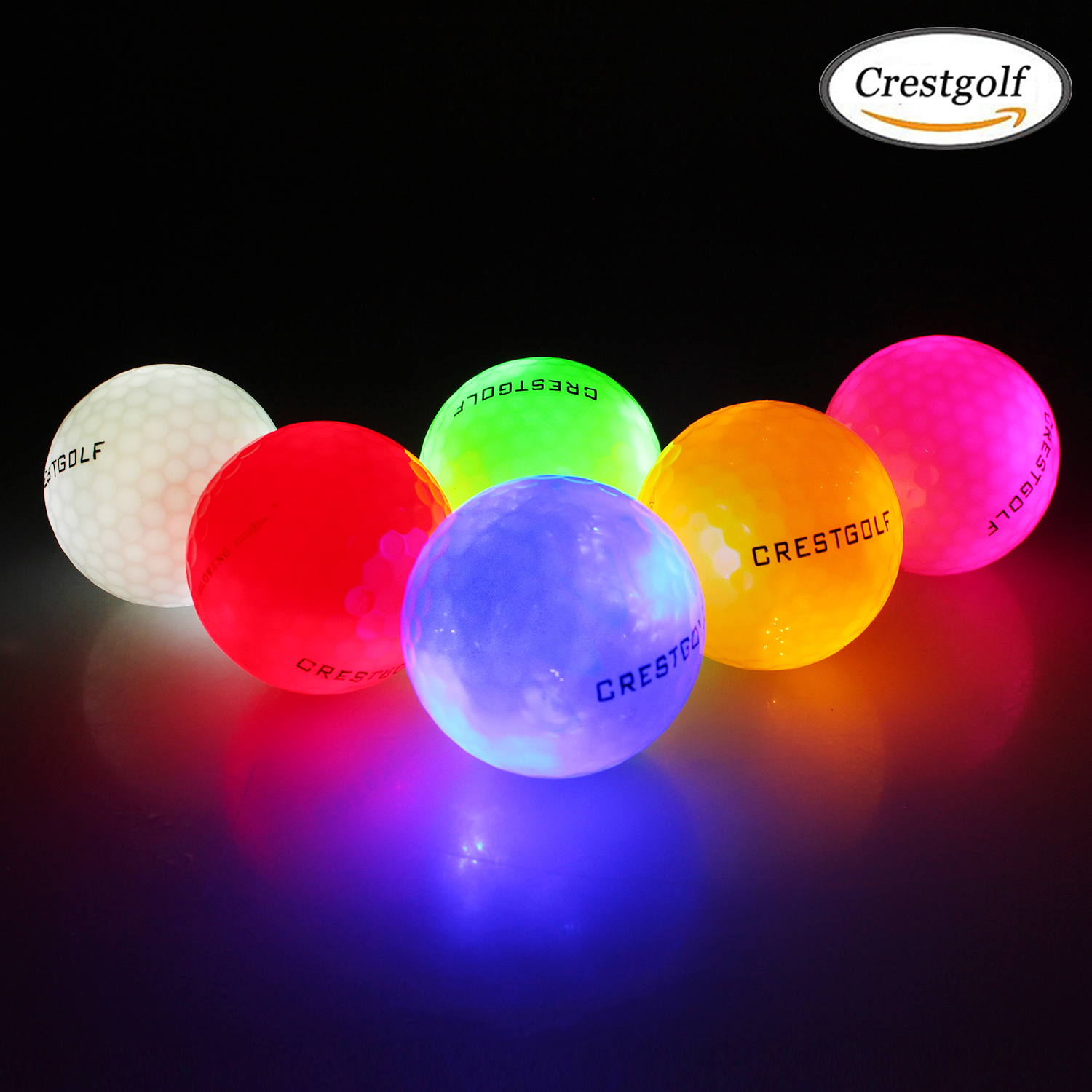 CRESTGOLF Waterproof Led Golf Balls 4 pcs/pack for Night Training High Hardness Material for Golf Practice Balls 2019 The Newest 1