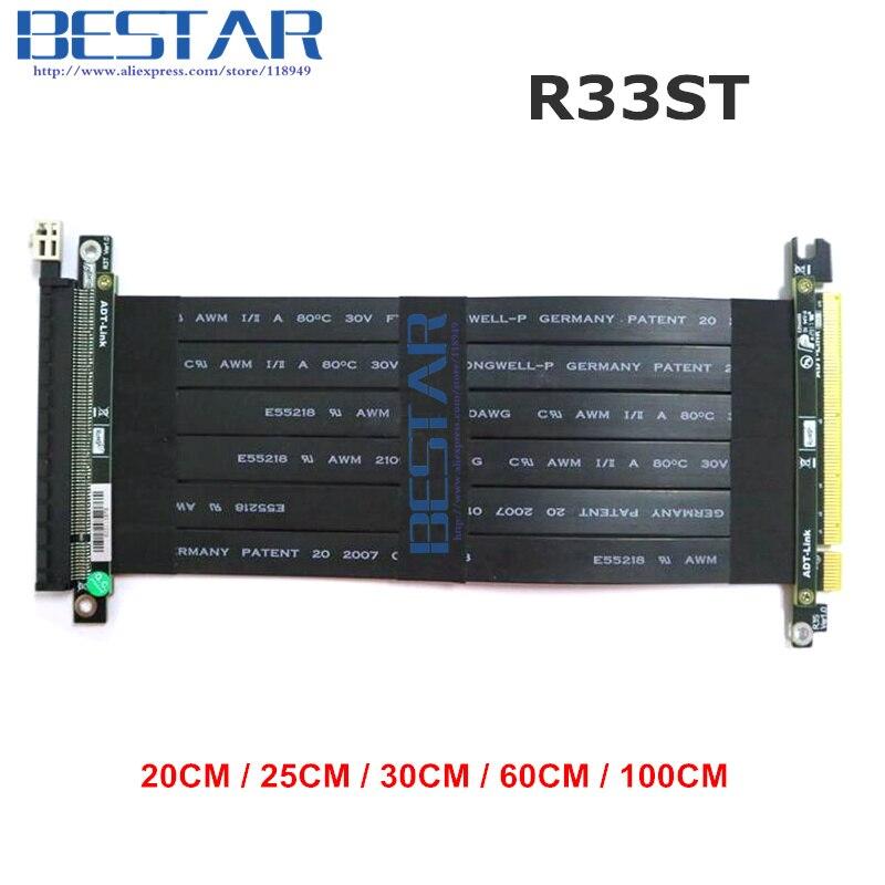 Riser PCI Express PCI-E 16x PCIE 3.0x16 Riser Graphique carte Câble 20 cm-1 m Pour GTX1080TI firepro w7100, quadro K1200 VEGA64