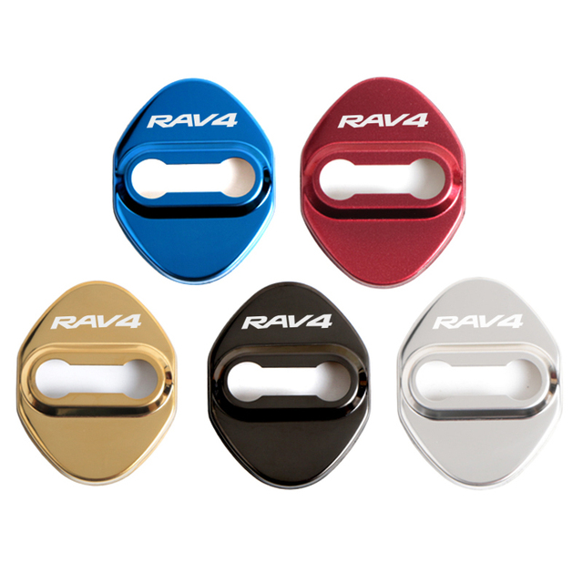 Car Styling Door Lock Covers For Toyota RAV4 Protective And Decoration Car Accessories Sticker