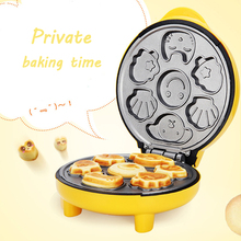 лучшая цена 220V Household Automatic Cake Machine Portable breakfast Machine Bread Machine Double-sided Heating Baking Cartoon Pictures