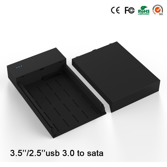 high speed USB 3.0 to sata hard disk case for 6TB 2.5/3.5 inch hdd ssd protable hard driver Enclosure MR35T