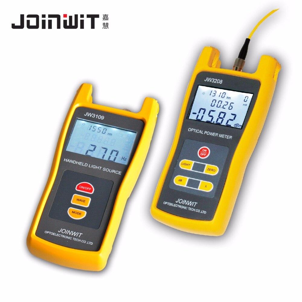 Palmare High precision Optical Power Meter JW3208C + JW3109 Sorgente di Luce In Fibra Ottica Strumento di Combinazione Kit Tester
