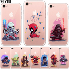 VIYISI Phone case For Apple iPhone 5 5S SE 6 6S 7 8 Plus X Cartoon Personality Colorful  Back Cover Coque Q version hero