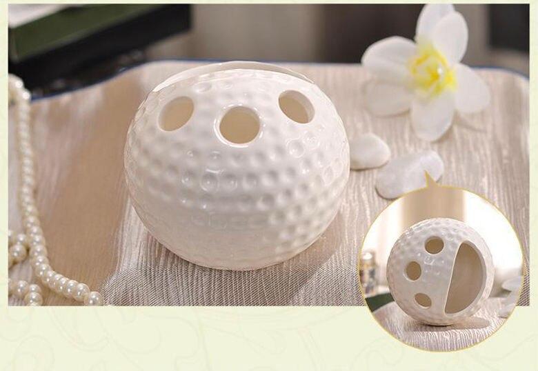 Rode Accessoires Badkamer : Porselein badkamer sets keramische golfbal vorm kuiltjes graan