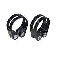 SuperLight 14 г полный углерода зажим для сидения велосипеда мм 31,8 мм и 34,9 MTB дорожный велосипед подседельный Зажимы для 31,6 мм/27,2 подседельный запчасти