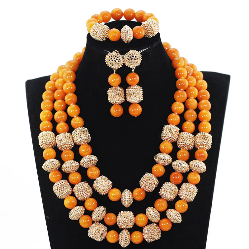 African Coral Beads Bridal Jewelry Set Dubai Gold Women Costume Party Jewelry Set Nigerian Wedding Jewelry African Coral Beads Bridal Jewelry Set Dubai Gold Women Costume Party Jewelry Set Nigerian Wedding Jewelry Free Shipping WE101