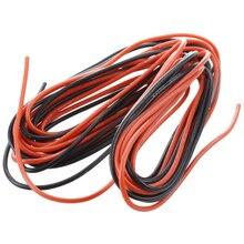 2x3 м 20 Калибр AWG силиконовый резиновый провод кабель красный черный гибкий дропшиппинг