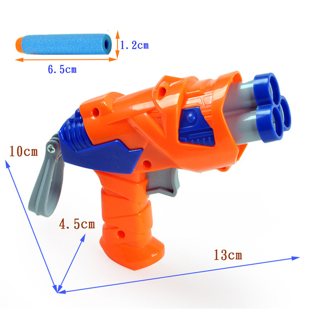 Creative 3 pieces EVA Soft Bullet Gun toys model Toys gun Air Pisol Toys for Boys Children Kids brinquedos juguetes Classic Toys