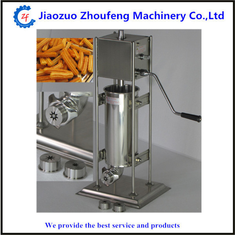 7L multiple choices manual churro maker churros making machine for sale commercial stainless steel churro machine 25l electric fryer manual spanish churros maker 4 nozzles