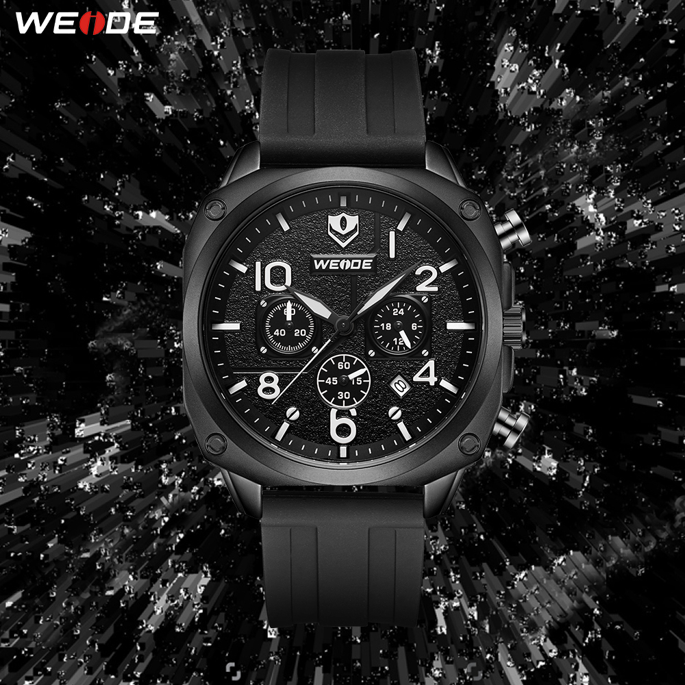 Gift WEIDE Drop Ship Luxury Brand Military Fashion Casual Wristwatches Silicone Strap Bracelet Quartz Movement Clock man watch