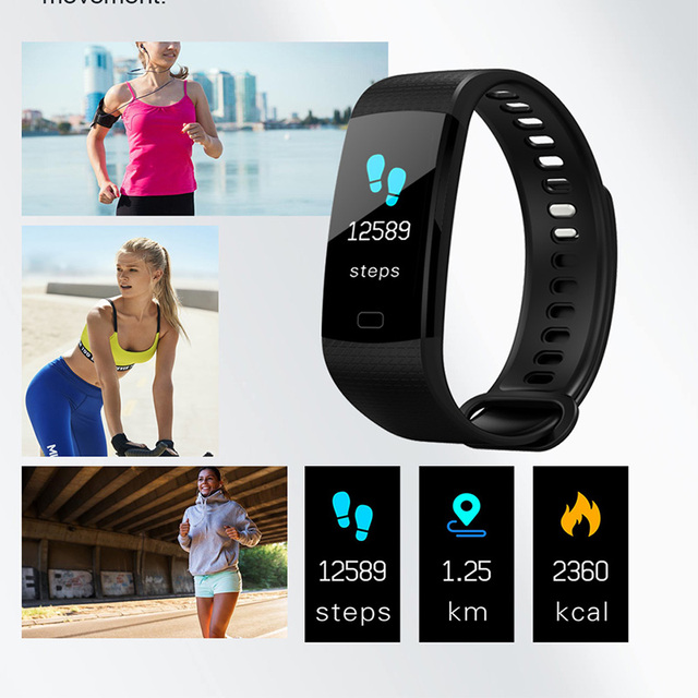 Y5 Smart Band Watch Color Screen Wristband Heart Rate Activity Fitness tracker Smart Electronics Bracelet VS  Miband 2 3