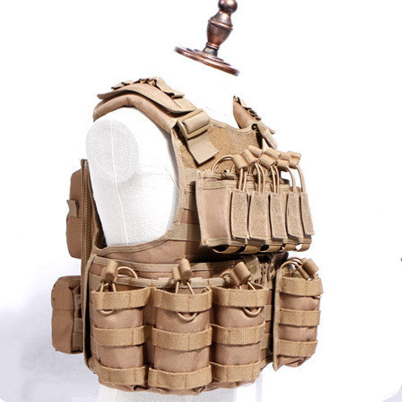 600D Nylon Molle Tactical Vest Anti wear Outdoor Hunting Shooting Camping Training CS Field Combat Gear Detachable Waistcoat - 3