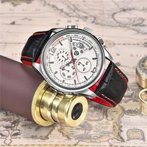 Image 5 - 男性クォーツ腕時計パガーニデザインの高級ブランドファッション時限マルチファンクションダイブ革クォーツ時計レロジオmasculino