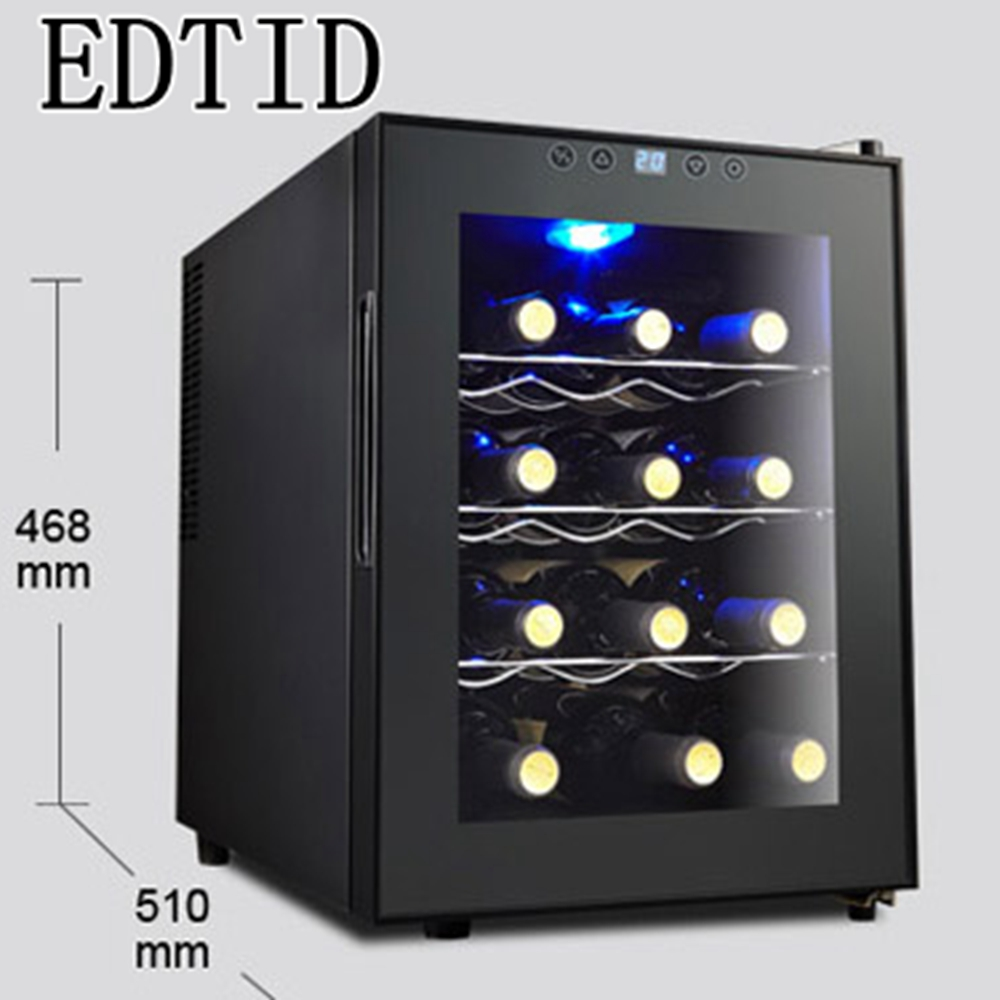 EDTID Electronic red wine cabinet home ice bar cold storage cabinet Wine Cooler deep freezer ice cuber box refrigerating