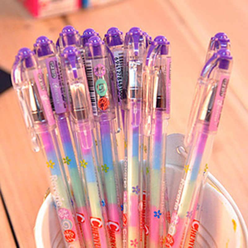 Kawaii альбом для фотографий ручка 6 цветов в 1 акварель гелевая ручка жидкий мелок для фотоальбомы DIY дневник в стиле скрапбукинг украшения дома