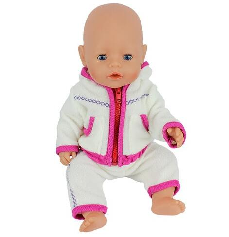 New fashion clothes kits doll clothes wear fit 43cm baby born zapf
