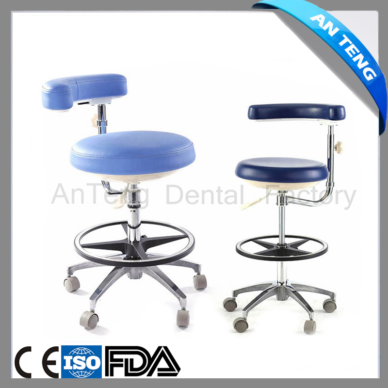 High quality comfortable dental assistant stool nurse chair height adjustable armrest 360 degree adjustable