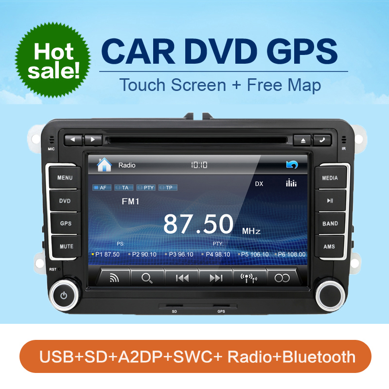 2 din radio VW car dvd player vw passat b6 polo golf 5 vw golf 4 touran t5 caddy sharan with GPS navigator steering-wheel