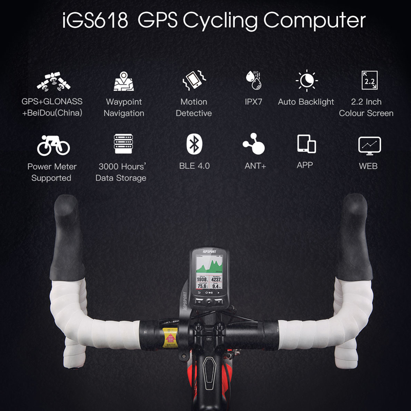 Image 5 - iGPSPORT Cycling Wireless Computer ANT+ Bicycle Speedometer IGS618 Bike Heart Rate Speed Cadence Sensor Computer Accessories-in Bicycle Computer from Sports & Entertainment