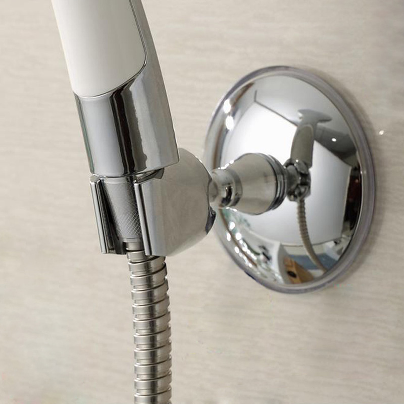 Adjustable Strong Suction Cup Shower Head Holder Bracket Stand 360degree Swivel