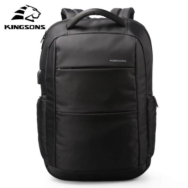 Kingsons Large Capacity Laptop Business Style Travel Men Backpack 15.6 Inch Fashion Design Backpack For University Student