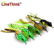 5PCS/LOT 5 Completely different Shade 3D Floating Skirt Frog Fishing Lure Double Hook 6.2g/4.5cm Free Delivery