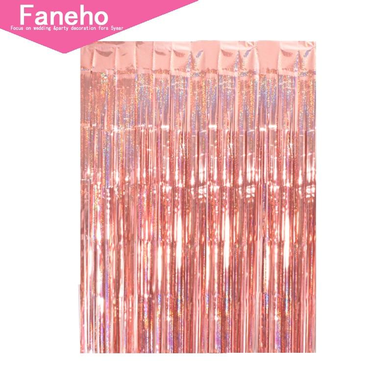 2 м Радужный фон шторы из фольги фотографии задний план поставки День рождения украшения взрослых Рождество аксессуары для дома