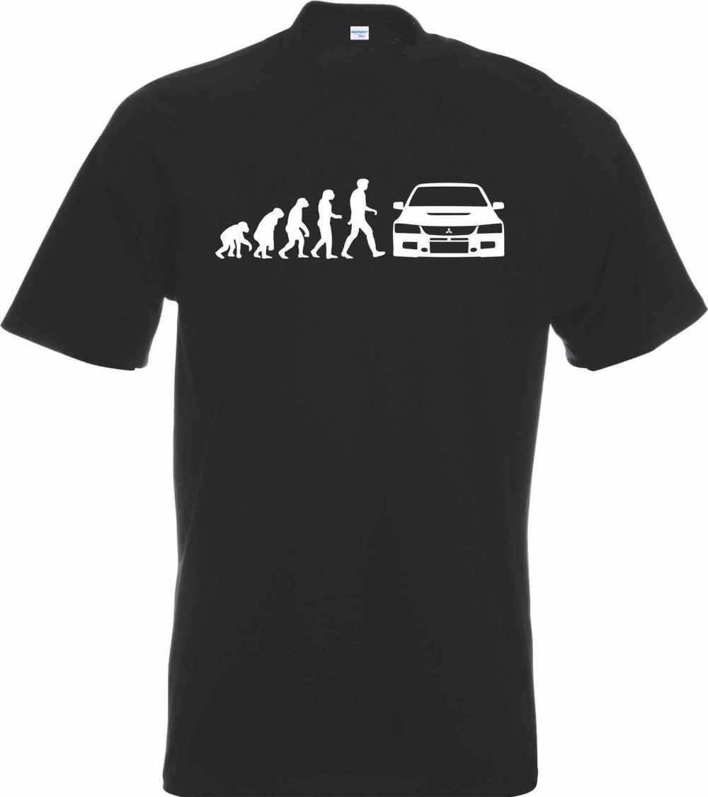 Модная футболка с принтом Evo Evolution Car новинка 2019|футболка