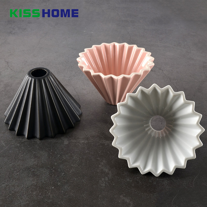 Flowers Ceramic Coffee Cup Espresso Coffee Filter Cup Origami Filter Cups V60 Funnel Drip Hand Cup Filters Coffee Accessories