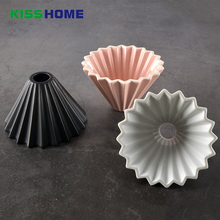Flowers Ceramic Coffee Cup Espresso Filter Origami Cups V60 Funnel Drip Hand Filters Accessories