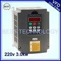 220 В 3.0kw VFD инвертор с переменной частотой/VFD 1HP или 3HP вход 3HP выходной привод ЧПУ шпиндель управления скоростью двигателя