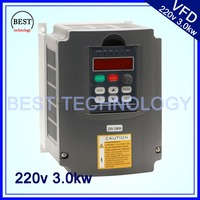 3 0kw Variable Frequency Drive VFD Inverter 3HP 220V AC New Product High Quality