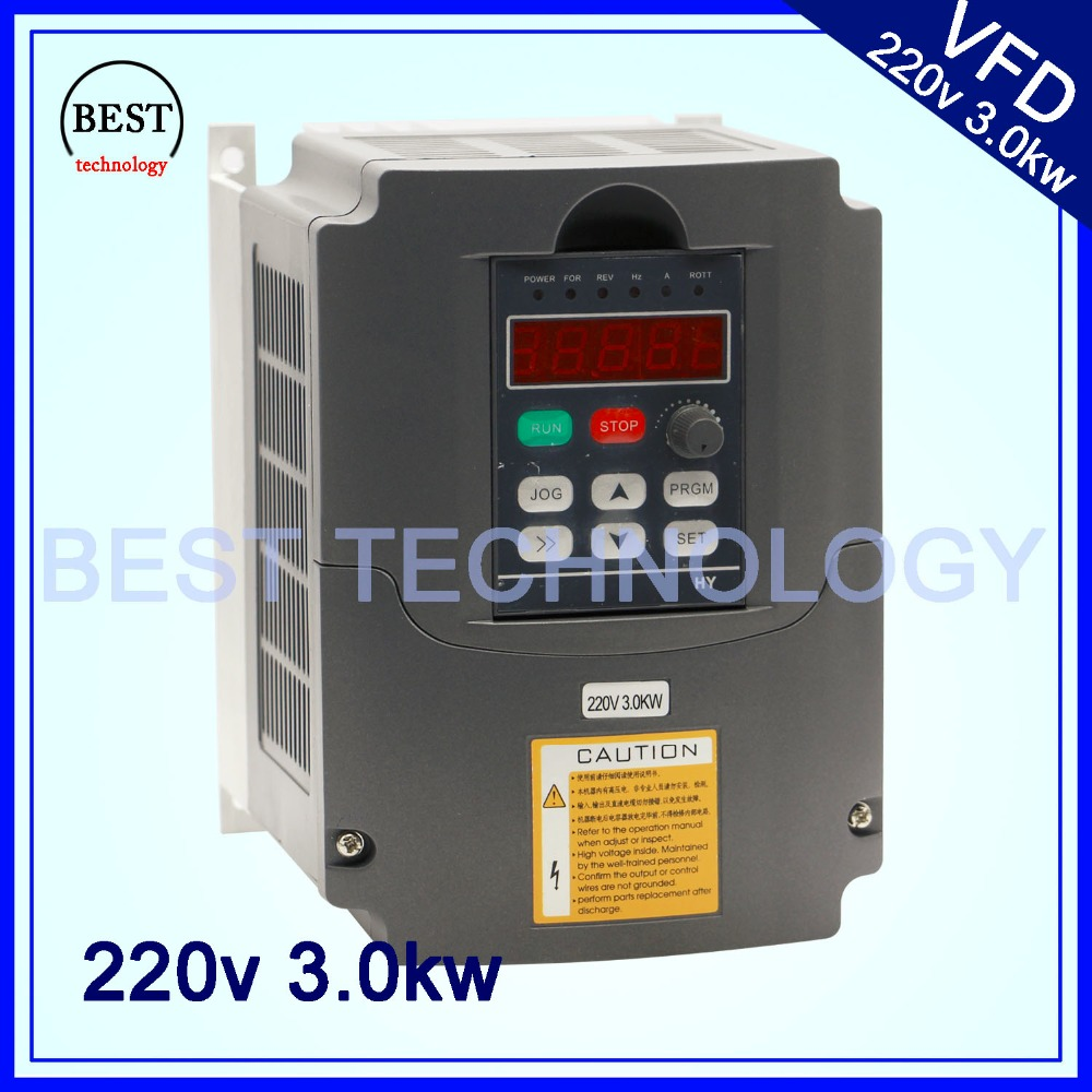 220v 3.0kw  VFD Variable Frequency Drive  Inverter / VFD 1HP or 3HP Input 3HP Output CNC Driver CNC Spindle motor Speed control 2 2kw 380v vfd variable frequency drive vfd inverter 3hp input 3hp output cnc spindle motor driver speed control