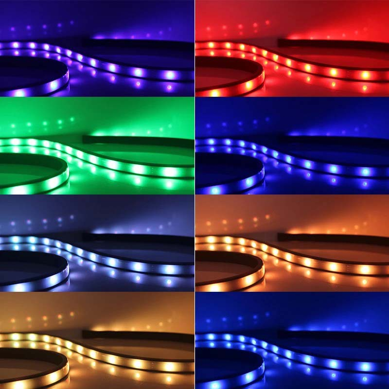 New Car RGB LED Strips Light Under Car Underglow Underbody Music Remote  Control Neon Lights Lamp 88 XR657