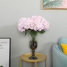 6 Heads Artificial Hydrangea Ball Silk Flowers The Road On Wall Decoration Flower Dried