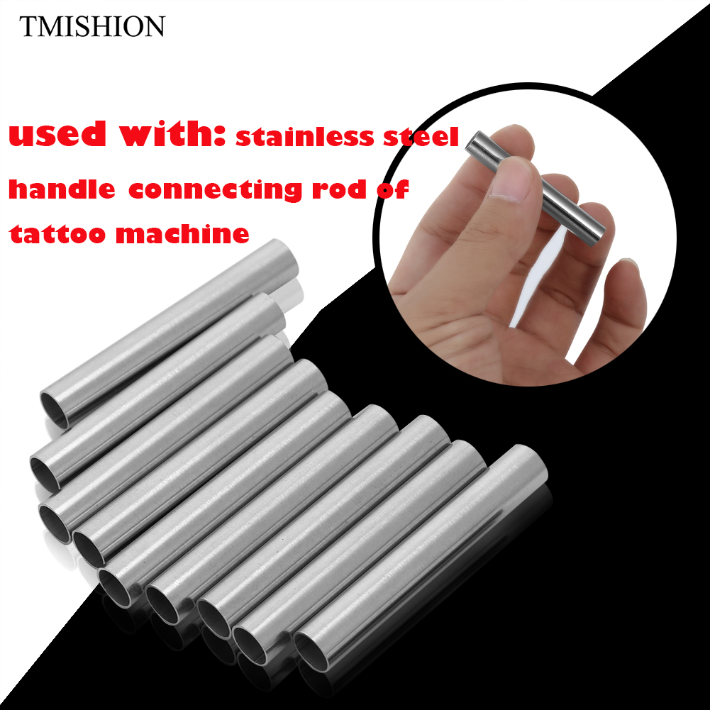 10Pcs Tattoo Machine Grip Tip Back Needle 304 Stainless Steel Stem Tube Body Art Supply Tattoo Permanent Makeup Gun Accessories