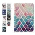 Nuevo Kindle Paperwhite Caso Arte Pintado Diseño de La Piel, Iluminado Cubierta de Cuero Delgada de LA PU Fit Paperwhite1 Kindle 2 3 2015 sexta Generación