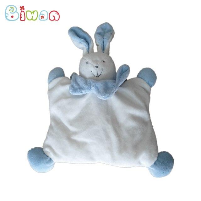 d824e7c5d854 Biwan Stuffed Rabbit Doudou 30cm With Ears Flat Plush Toys Soft Cute ...