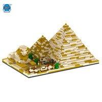 NUEVA Casa Blanca Pirámide Oriental Pearl Tower LOZ Toronto Torre de TV Compatible 3D Modelo de Bloques de Construcción de Juguetes De Plástico Educativos