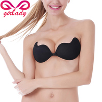 GIRLADY Women Sexy Breast Petals Invisible Adhesive Silicone Nipple Covers Bra Lifting Thick Breast Stickers For