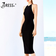 INDRESSME 2018 Women Backless Bandage Dress Sexy Spaghetti Strap Bodycon Party Dresses New Fashion